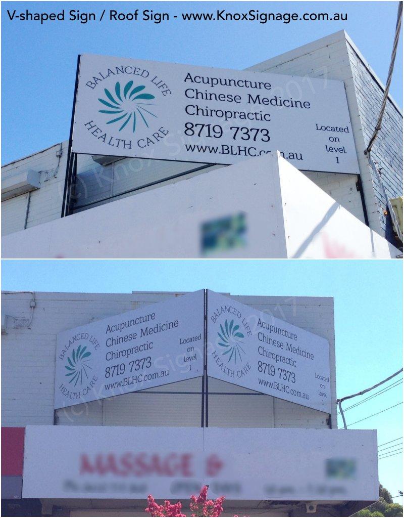 V-Shaped Sign / Roof Sign