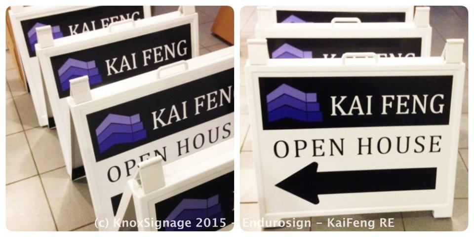Real Estate Enduro Sign - Kai Feng RE