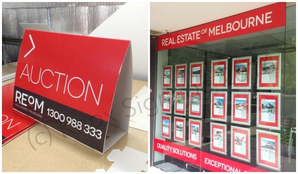 Real Estate Roster Sign & Window Signage
