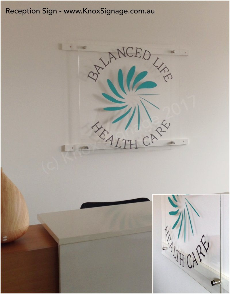 6mm Acrylic Reception Sign