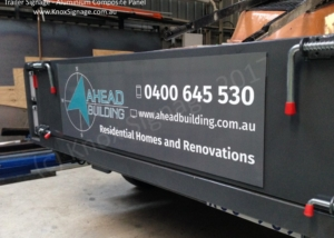 Trailer Signage - ACP with digital print graphic