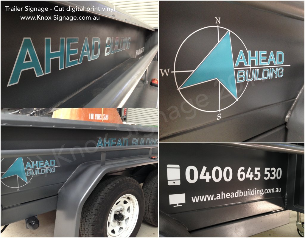 Trailer Signage - digital print graphic