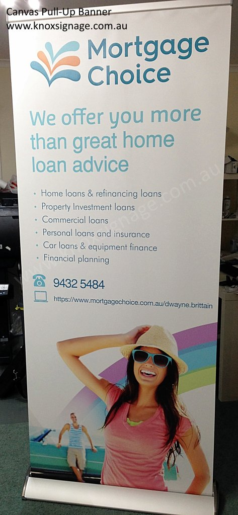 Canvas Pull-Up / Retractable Banner