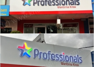 3D LED Front Lit - Day & Night View